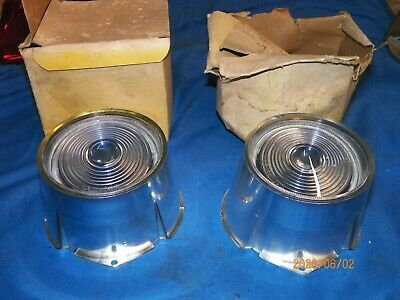 NORS 1957 Plymouth Belvedere Fury Savoy reverse Back-up Light Lenses (Pair)