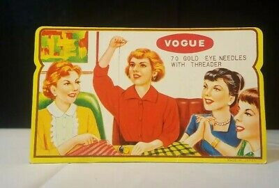 Vintage 1950'S Old Advertising Sewing Susan 70 Assorted Needles