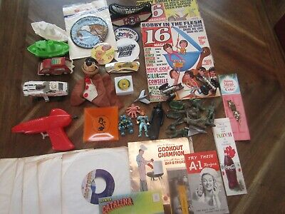 Vintage JUNK DRAWER LOT-Toys-Motown 45s-Booklets-Misc