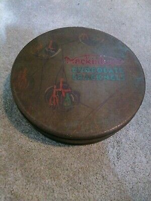 Vintage Early Rare Collector's Mackintoshs Chocolate Cracknels Metal Tin Large