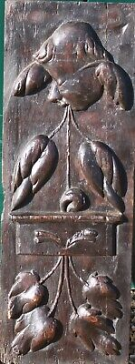 RARE 16th Century CARVED OAK PANEL of an ANGEL in R