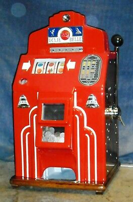 JENNINGS 25c DIXIE BELLE wartime production antique slot machine, ca 1941