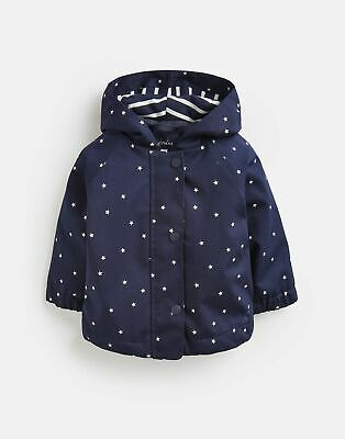 Joules Baby Girls Coast Raincoat - NAVY STAR Size 0m-3m