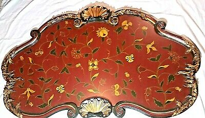 Antique Vintage Headboard Italian 1900s Style Hand Painted Wall Covering French