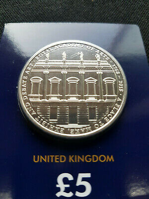 2018 The Royal Academy of Arts UK Five Pound £5 BU Coin Low mintage 12k rare