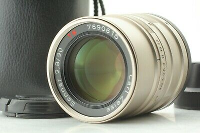 【TOP MINT + Case】 Contax Carl Zeiss Sonnar T* 90mm F2.8 Lens G1 G2 From Japan