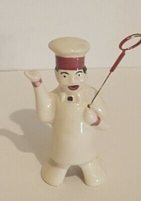 Rare Benny The Baker Figurial Chef Pie Bird Vent with Cake Tester