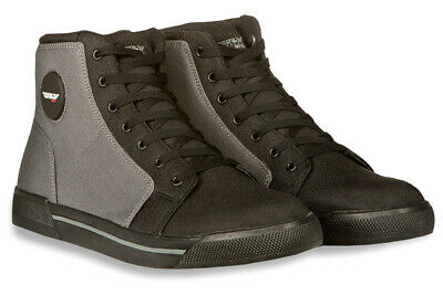 Fly Racing M16 Canvas Riding Shoes Black/Gray 9 USA