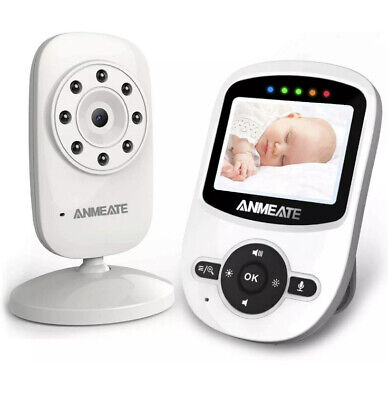 ANMEATE SM24 Video Baby Monitor with Digital Camera - White