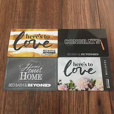Bed Bath & Beyond Collectible Gift Cards Lot of (4) New No Value
