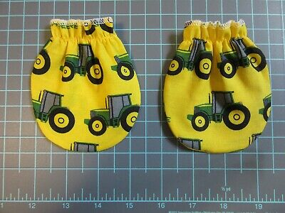 JOHN DEERE Fabric Baby  Anti No Scratch Mitts / Mittens  0  - 3 months