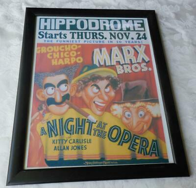Marx Brothers A Night at the Opera Poster Hippodrome Professionally framed