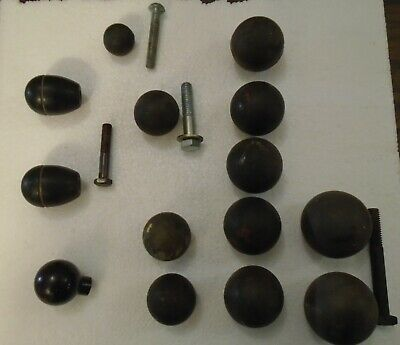 """Lot of 14 industrial shift control ball knobs 1 3/4"""" to 1"""""""