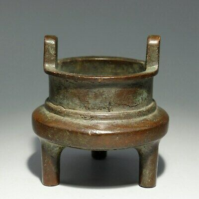 Collectable China Old Red Copper Hand-Carved Delicate Unique Bring Luck Censer
