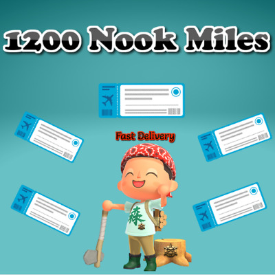 🌟 1200 Nook Miles Tickets Animal Crossing New Horizons CHEAPEST - FASTEST 🌟