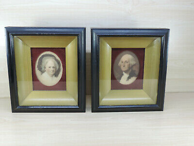 Vintage GEORGE & MARTHA WASHINGTON Framed Prints