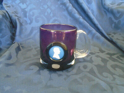 Prince Phillip Glass Amethyst Tankard made by Wedgwood