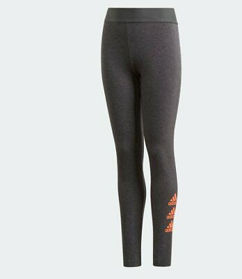 Girls Adidas Must Have Badge Of Sport Leggings Grey Ages 4-7   Bnwt  Rrp £18