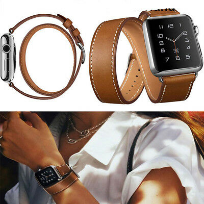 Genuine Leather Watch Band Tour Bracelet Strap For Apple watch 38mm/42mm