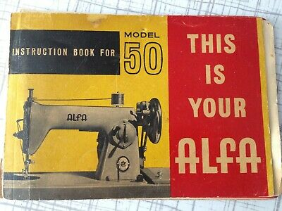 ALFA Model 50 SEWING MACHINE instructions book booklet