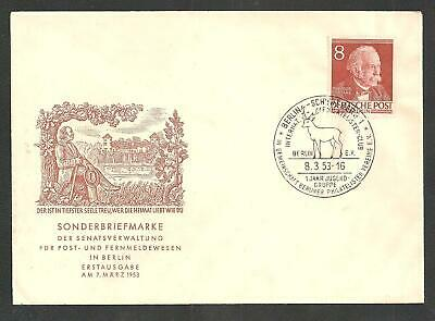 BERLIN Sc. 9N87 on FDC