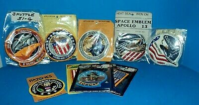Lot of Space Shuttle Patches  Columbia  Apollo 13 16 XVII  51-G  Tomcat  Flags