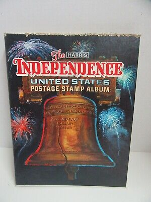 HE Harris & Co Independence United States Postage Stamp Album Some Stamps