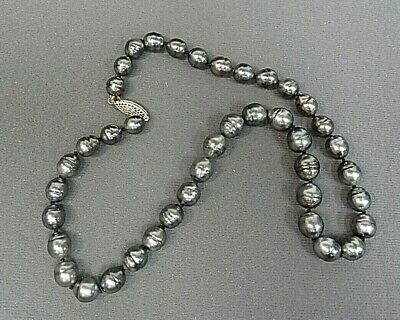 Tahitian Pearl Necklace Circle Baroque 18""