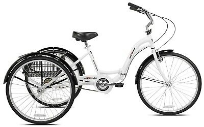 26 inch 3 WHEEL CRUISER BIKE Adult Tricycle Bicycle 3 Tire Single Speed