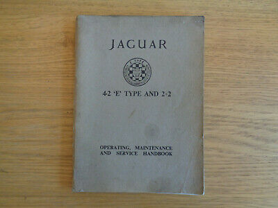 Jaguar E Type Series 1 4.2 Owners Handbook/Manual