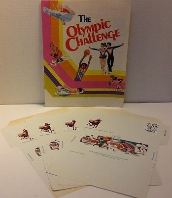 US 1984 Olympic Challenge Booklet and 4 Letter Envelopes