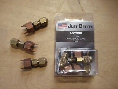 "JB INDUSTRIES A32908 Copper Line Piercing Saddle Valve 1/2"" OD New -  6 pcs -"