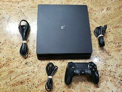 Sony PlayStation 4 PS4 Console System Slim 500 GB with cables and 1 Controller