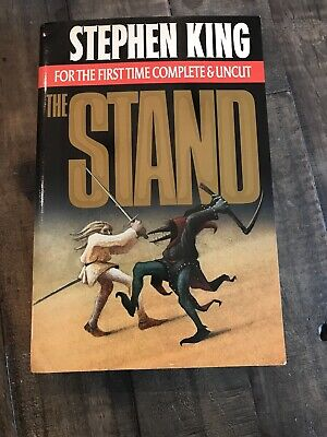 Stephen King The Stand Complete & Uncut 1990 Paperback Cover NICE