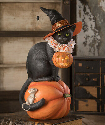 Bethany Lowe Halloween Black Cat Witch On Pumpkin TD9085 New 2020 Ships 6/10