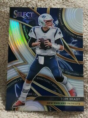 2019 Select Football Tom Brady Sensations Insert Prizm New England Patriots