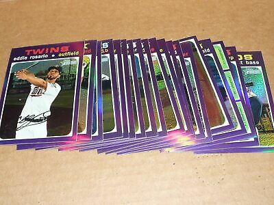 2020 Topps Heritage BASEBALL PURPLE CHROME REFRACTOR LOT OF 19 SEAGER FLAHERTY