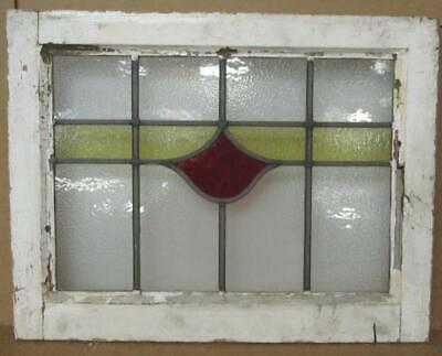 "OLD ENGLISH LEADED STAINED GLASS WINDOW Simple Stripe Design 21"" x 16.25"""