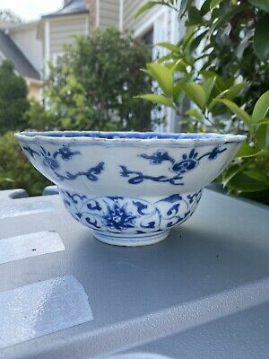 Antique Chinese Porcelain Blue And White high quality Bowl Kangxi Period