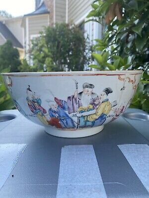 Antique Chinese Porcelain Families Rose high quality Bowl Qianlong Period