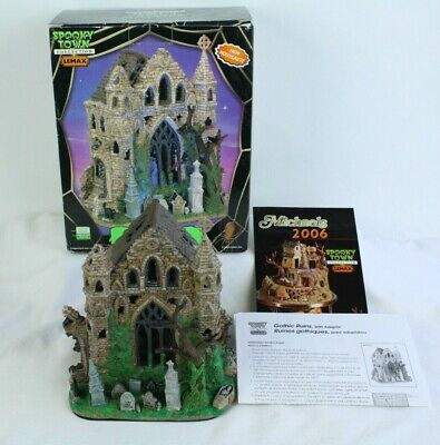 Lemax Spooky Town Collection Gothic Ruins Halloween Cemetery Graveyard Display