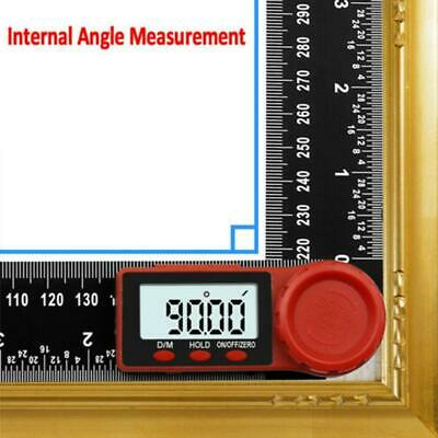 "2in1 Digital Protractor Angle Finder Ruler Crown Trim BE 7/"" Woodworking M9U7"