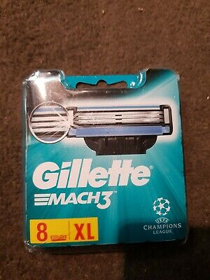 Sealed New Gillette Mach 3 XL pack Of 8 Blades
