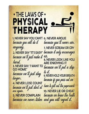 The Law Of Physical Therapy Poster No Frame