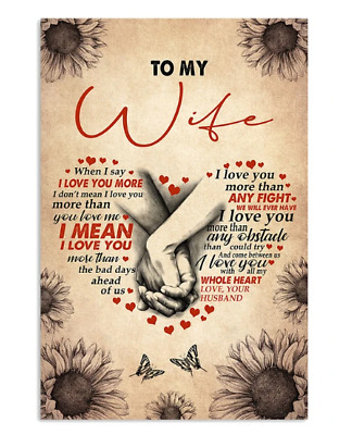 Love Message To My Wife Anniversary Poster No Frame