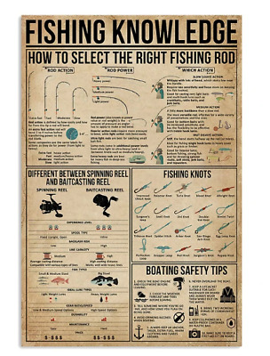 Fishing Knowledge Great Poster No Frame