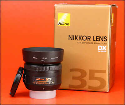 Nikon AF-S 35mm F1.8 G DX Autofocus Nikkor  Lens - with Front & Rear Lens Caps