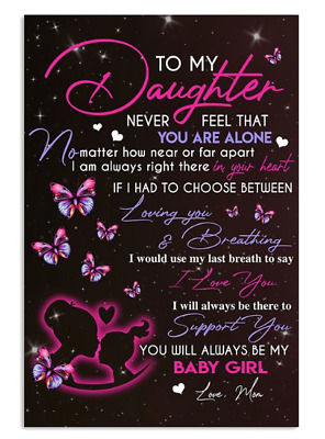 Message From Mom Gift For Daughter Poster No Frame