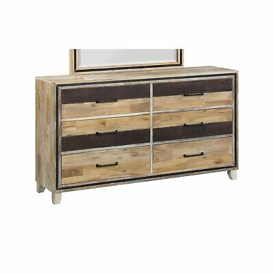 Boone Two-tone 6-drawer Dresser Brown 6-drawer