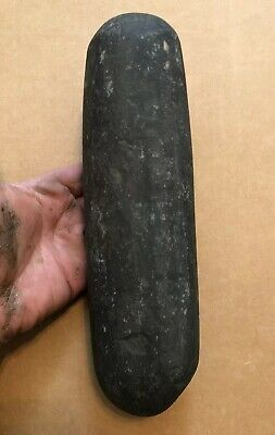 "TOP QUALITY 9 3/4"" INCREDIBLE DARK PESTLE-PA Indian Artifact- NJ NY Arrowhead"